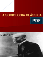 A SOCIOLOGIA CLASSICA - DURKHEIM