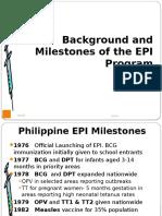 Background and Milestones of the EPI Program