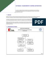 Plan de Trabajo - Planeamiento y Control de Proyectos