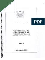 Tupa 2015 - (Texto Unico de Procedimientos Administrativos)