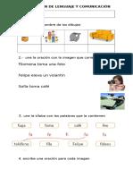 Evaluación de Lenguaje y Comunicación Leta f