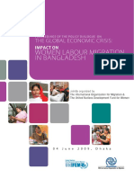 Global Economic Crisis Impact on Women Labour Migration in Bangladesh