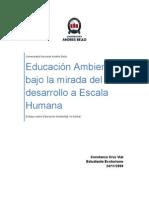 Educacion Ambiental bajo la mirada del Desarrollo Humano