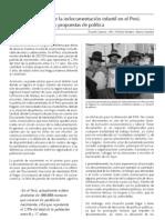 El estado de la indocumentación infantil en el Perú