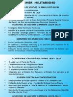 Primer Militarismo y Época Del Guano