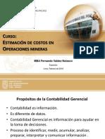 Estimacion de Costos en Operaciones Mineras