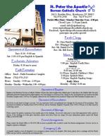St Peter the Apostle Bulletin 10-9-16