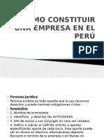 Como Constituir Una Empresa en El Peru