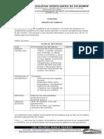 Formato de Plan de Refuerzo 2016