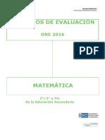 Criterios de Evaluación ONE 2016 ESO