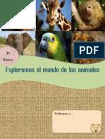 Proyecto escritura sobre los animales