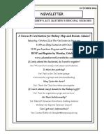 OCTOBER 2016 Emmanuel & St. Andrews & St. Matthews Newsletter