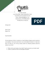 Inquiry Letter