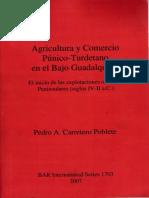Agricultura y Comercio Púnico-Turdetano en el Bajo Guadalquivir El inicio de las explotaciones oleícolasPeninsulares (siglos IV-II a.C.)