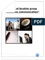 Study of Ibrahim Group