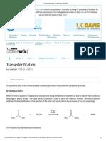 Transesterification - Chemistry LibreTexts