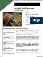 Tortellini Con Crema de Hinojo (Homemade Tortellini With Fennel Cream)