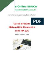 Curso Matem Tica Financeira Com Hp 12c 65236