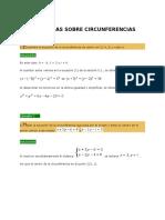 Problemas Sobre Circunferencias