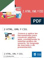 2. HTML, XML y CSS