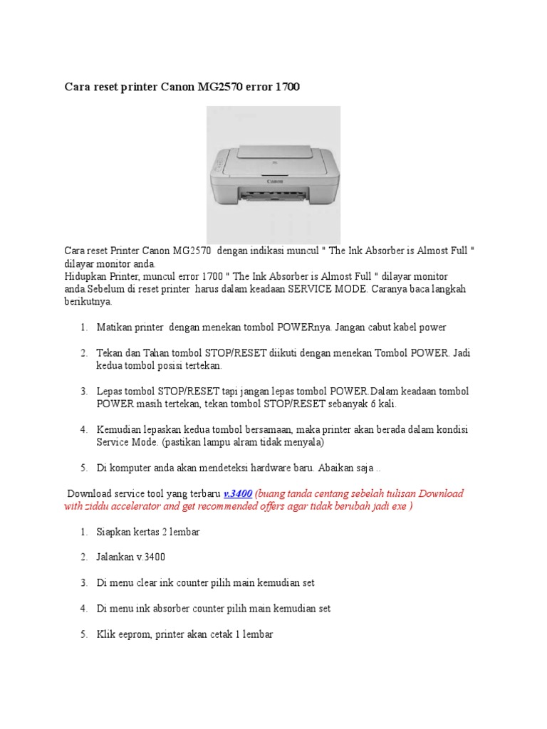 Cara Reset Printer Canon Mg2570 Error 1700 Computing Mainboard Mg 2570 Computer Engineering