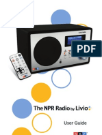 The NPR Radio by Livio user guide