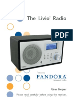 The Livio Radio Featuring Pandora user guide