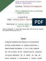 Ppt Clase 4, Toxicologia y Tto. 1