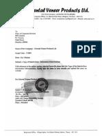 Stakeholders Information Memorandum [Company Update]