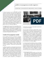 ¿Es el gasto público en programas sociales regresivo en el Perú?