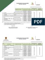 Calendario de Evaluación Agosto 2016-Febrero 2017