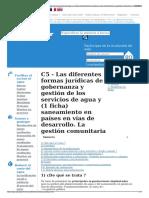 C5 - Las Diferentes Formas Jurídicas de Gobernanza y Gestión