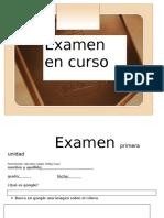 Examen Primera Unidad