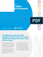 South Australian Public Sector Values and Behaviours Framework