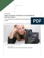 Entrevista a Sònia Cervantes