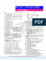 Kerala PMT- Biology Chemistry & Physics-2015