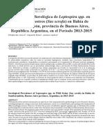Leptospirosis en Cerdos Silvestres