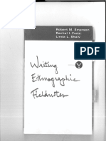 Emerson, Et Al - Writing Ethnographic Field Notes (Ch 1)