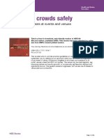 Managing Crowd Safely