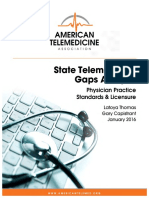 2016 50 State Telehealth Gaps Analysis Medical Physicians