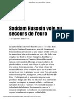 Saddam Paye en Euros !