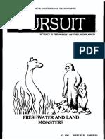 PURSUIT Newsletter No. 35, Summer 1976 - Ivan T. Sanderson