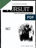 PURSUIT Newsletter No. 36, Fall 1976 - Ivan T. Sanderson