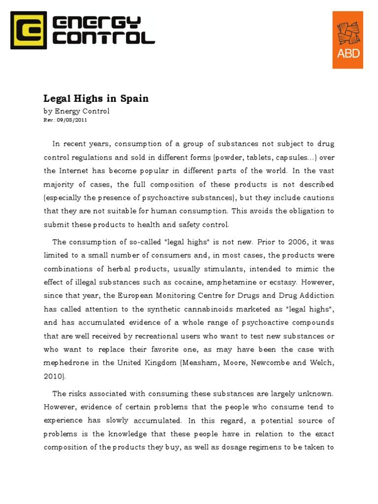 Legal Highs in Spain Eng Erowid | Psychoactive Drugs | Drugs Acting
