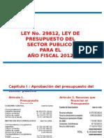 Ley de Presupuesto 2012 (1)