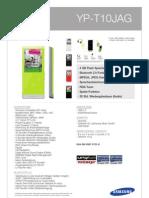 SAMSUNG MP3 YP-T10JAG
