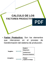 Calculo Factor Productivo