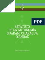 Estatuto de La Autonomía Guaraní Charagua Iyambae