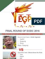 Final Round of Eodc 2016