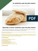 Aprende a Hacer Auténtico Pan de Pita Casero